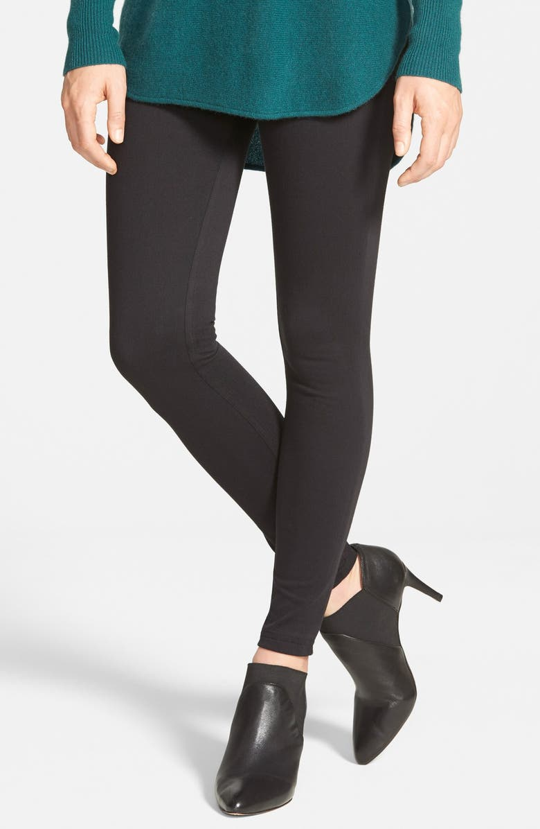 HUE Super Smooth Denim Leggings, Main, color, 001