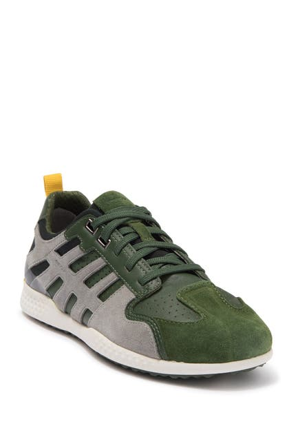 Image of GEOX Snake Leather Lace-Up Sneaker