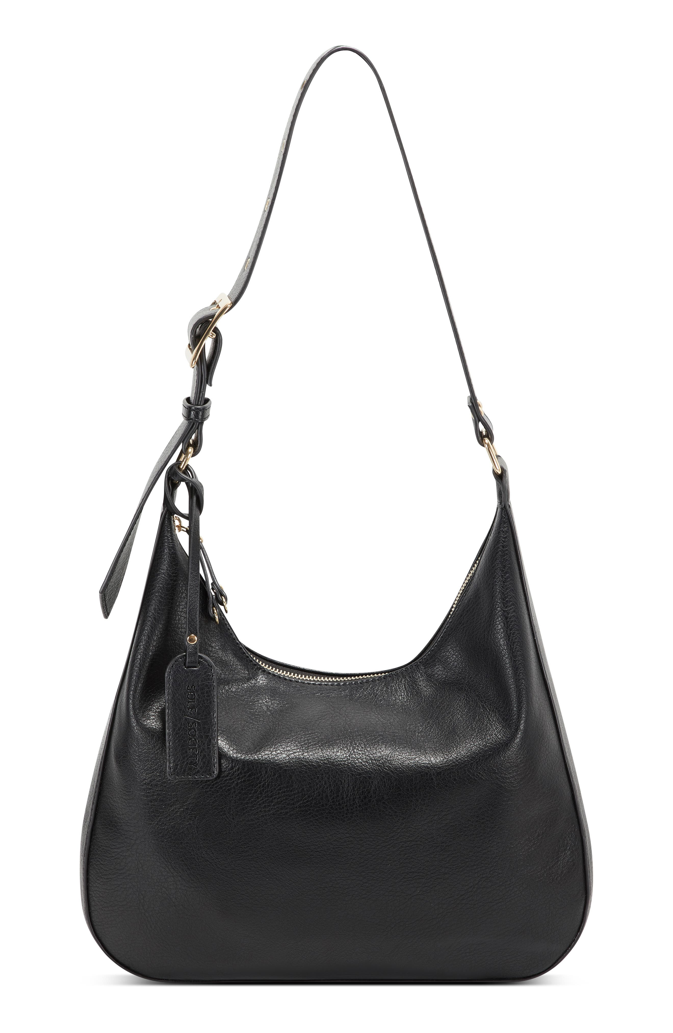 Image of Sole Society Palvo Faux Leather Hobo Bag