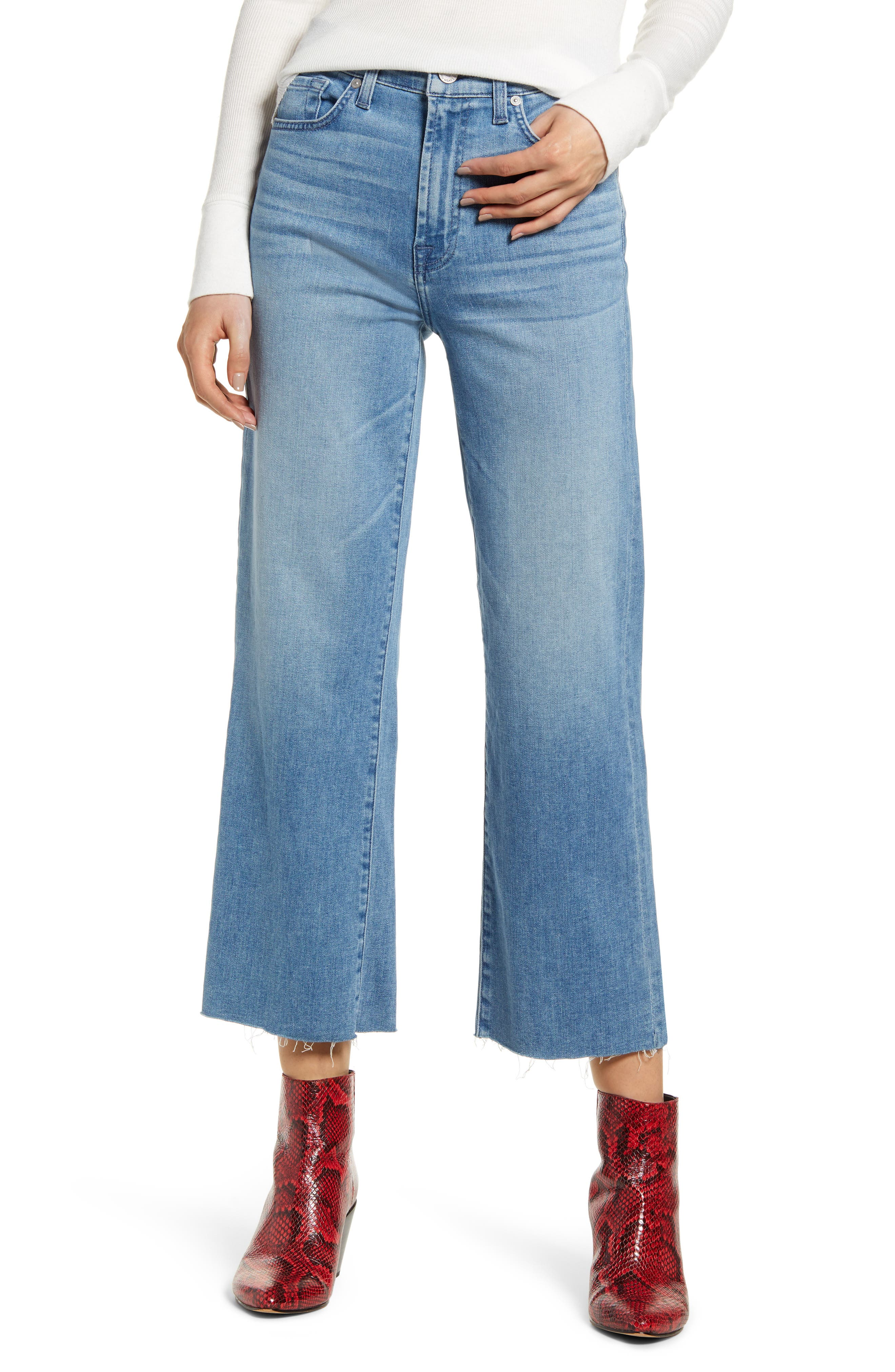 7 For All Mankind® Alexa Cutoff Hem Crop Wide Leg Jeans (Bonaventure)