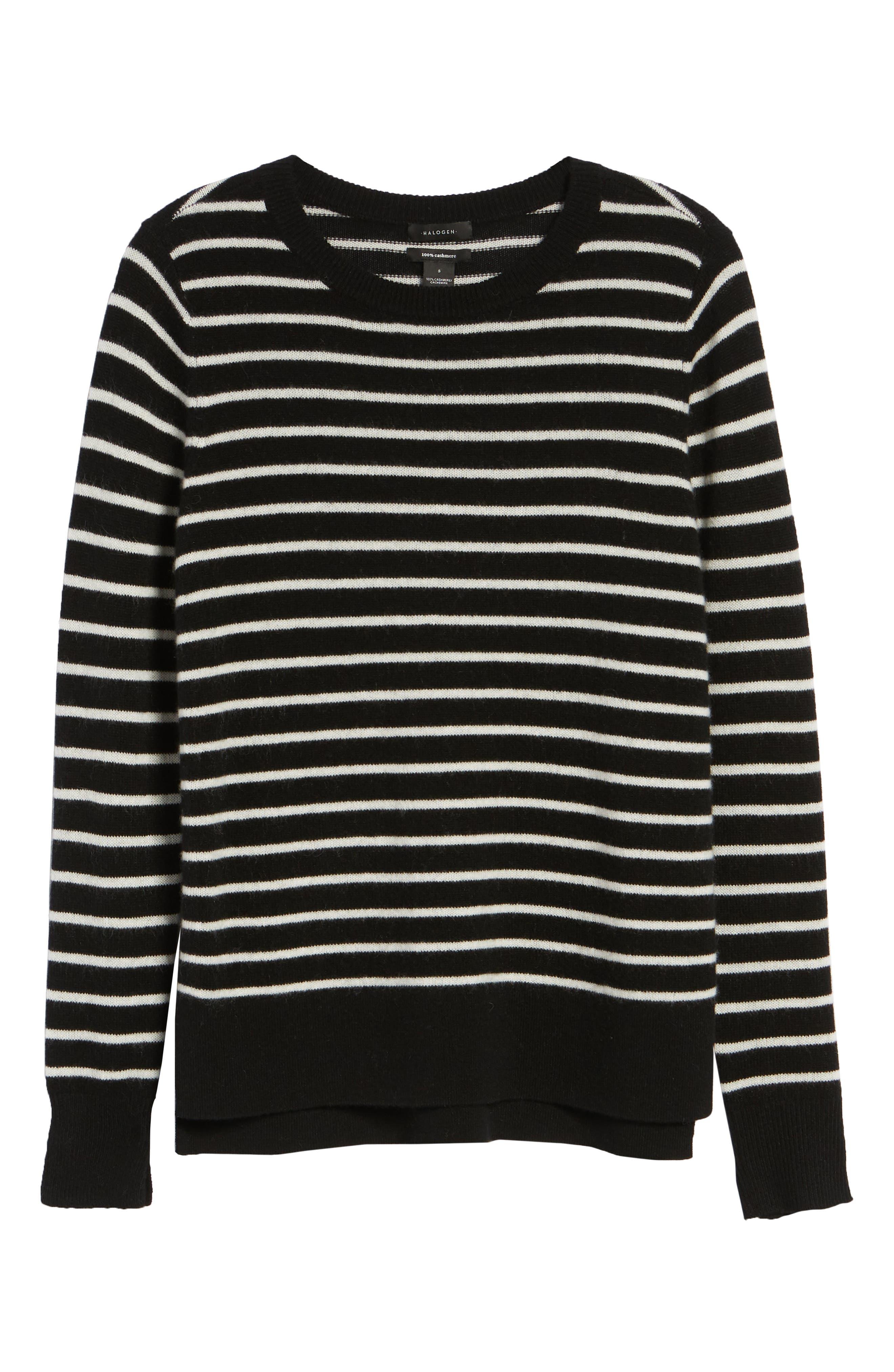 ,                             Crewneck Cashmere Sweater,                             Alternate thumbnail 6, color,                             002
