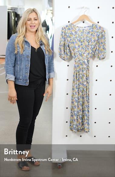Marta Floral Wrap Midi Dress, sales video thumbnail