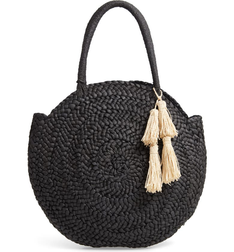 L SPACE Beach Weekend Straw Tote, Main, color, 001