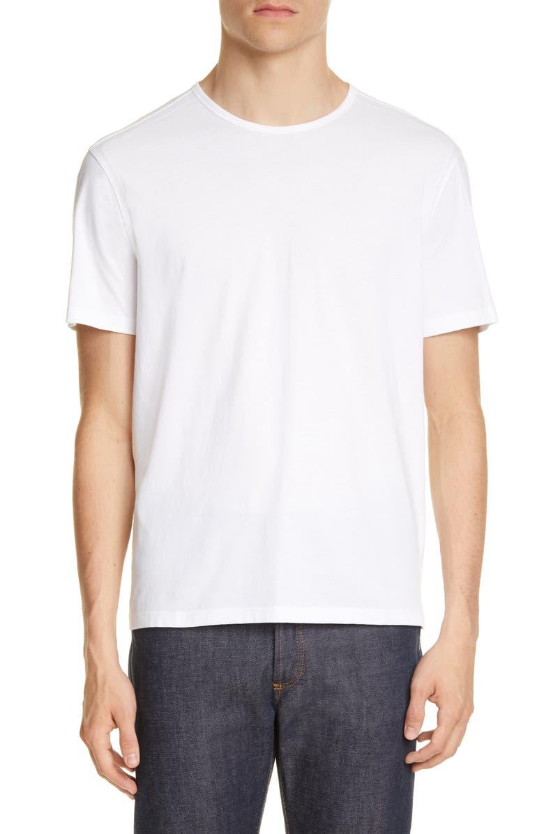 JOHN VARVATOS Solid T-Shirt, Main, color, WHITE