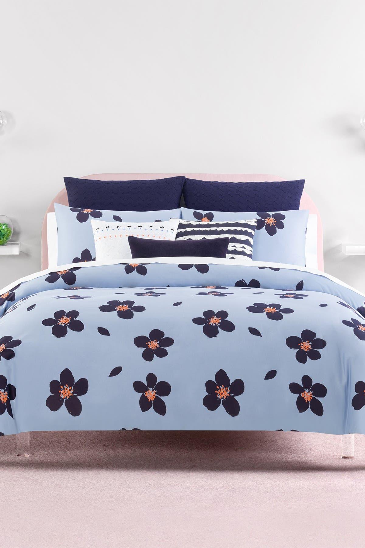 Kate Spade New York Blue Grand Floral Twin Duvet Cover 2 Piece Set Hautelook