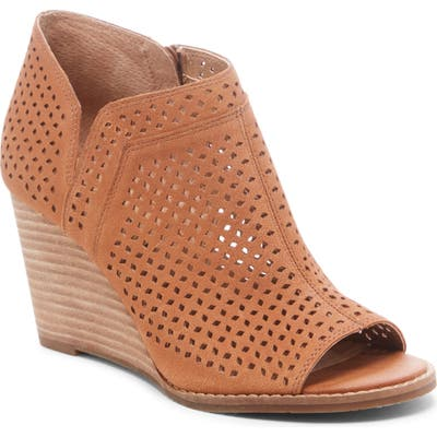 Lucky Brand Jazley Wedge Bootie- Brown