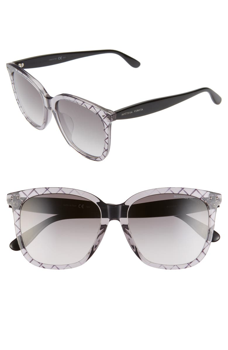 BOTTEGA VENETA 55mm Gradient Sunglasses, Main, color, 020