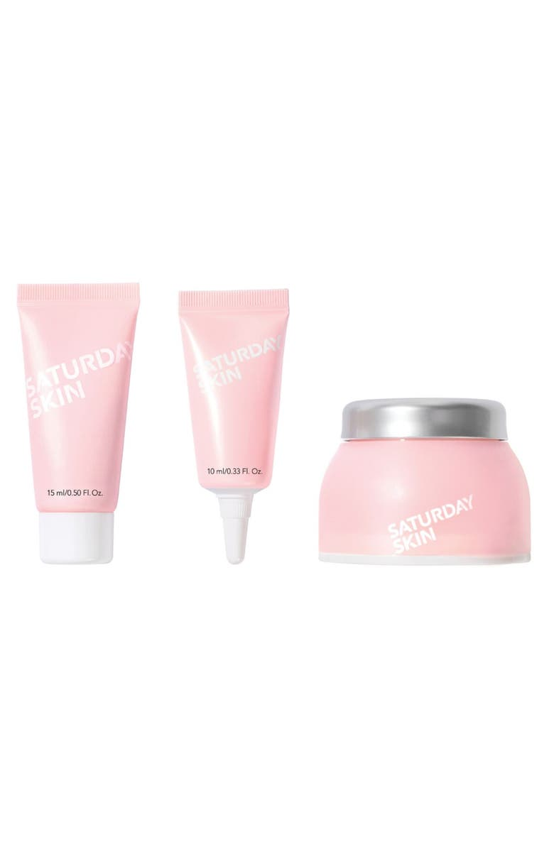 SATURDAY SKIN Travel Size Daily Essentials Set, Main, color, NO COLOR
