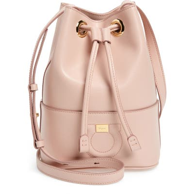 Salvatore Ferragamo City Quilted Gancio Bucket Bag - Pink