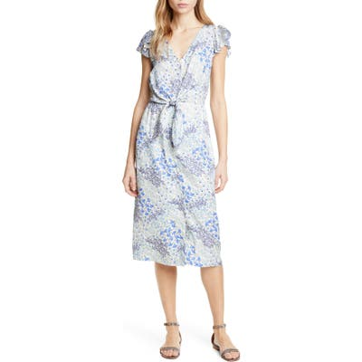 Rebecca Taylor Ava Tie Waist Silk Dress, Blue