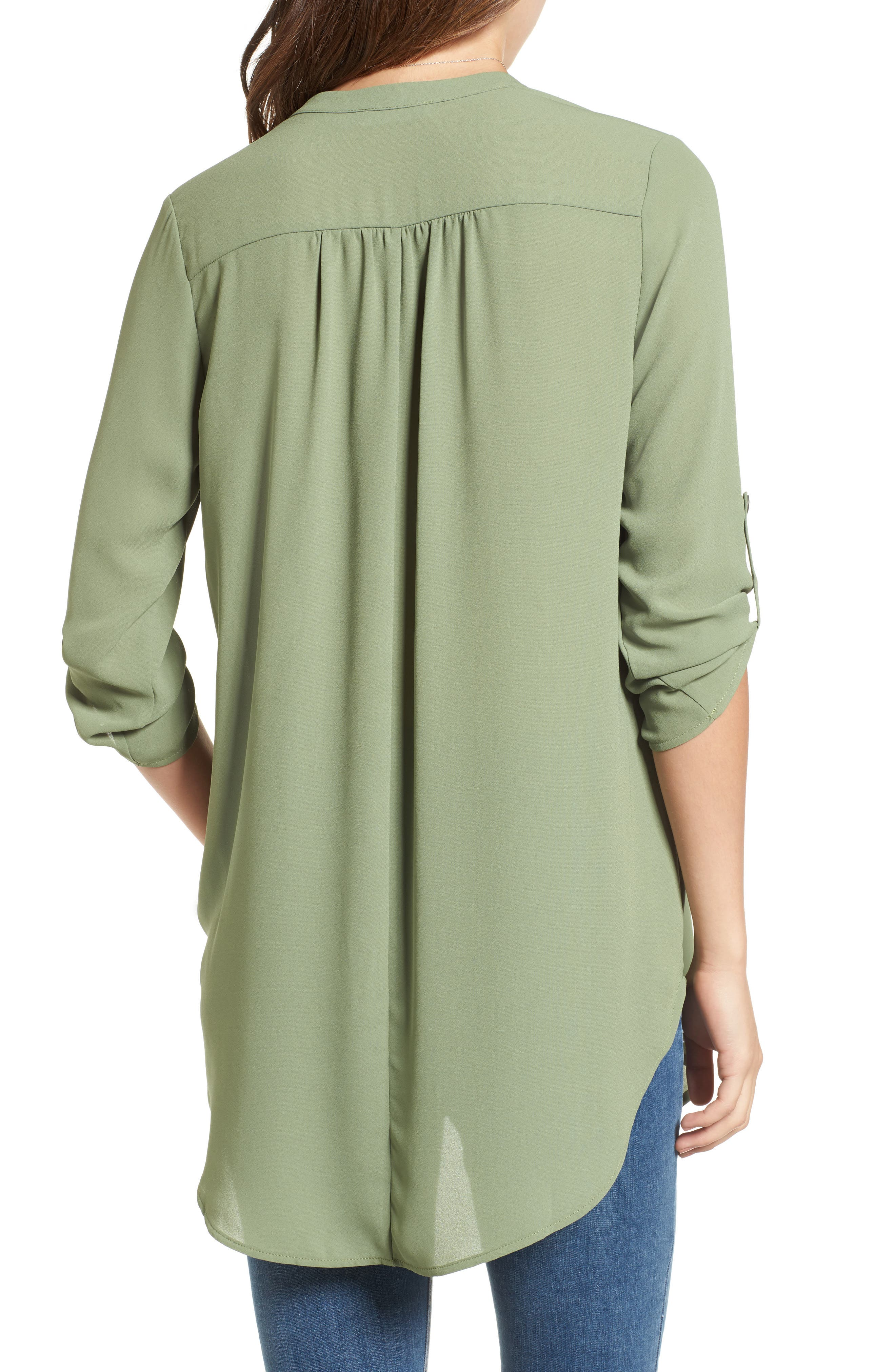 ,                             Perfect Roll Tab Sleeve Tunic,                             Alternate thumbnail 240, color,                             310