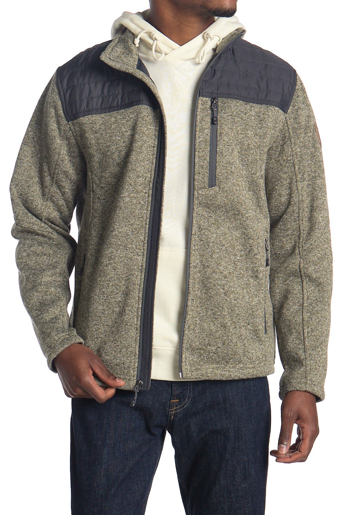 Image of Free Country Quilted Fleece Zip Jacket