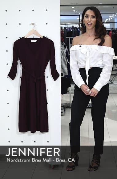 Faux Wrap Sweater Dress, sales video thumbnail