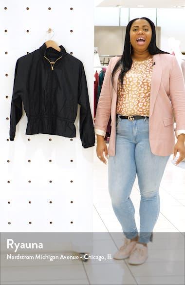Lightweight Nylon Peplum Jacket, sales video thumbnail