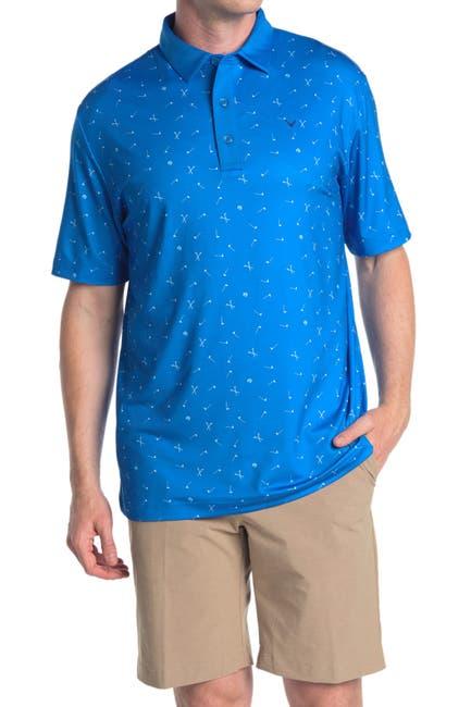 Image of CALLAWAY GOLF Golf Print Short Sleeve Polo