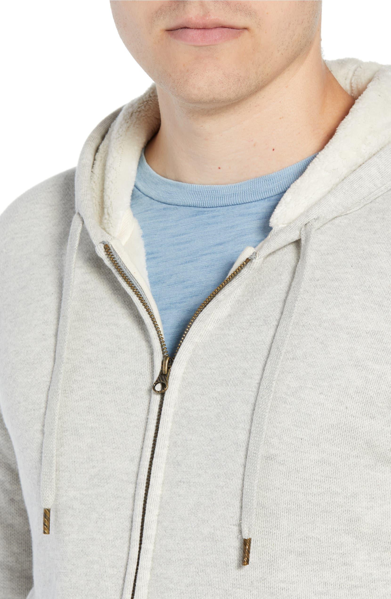256900b43 Billy Reid Panelled Fleece Zip Hoodie | Nordstrom