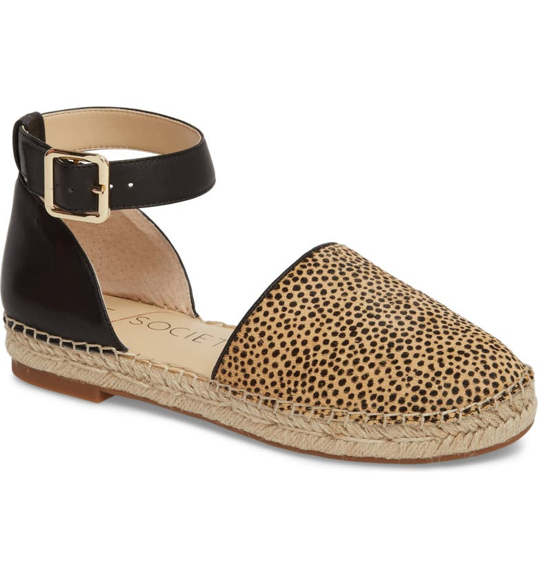 SOLE SOCIETY Stacie Genuine Calf Hair Espadrille Sandal, Main, color, 200