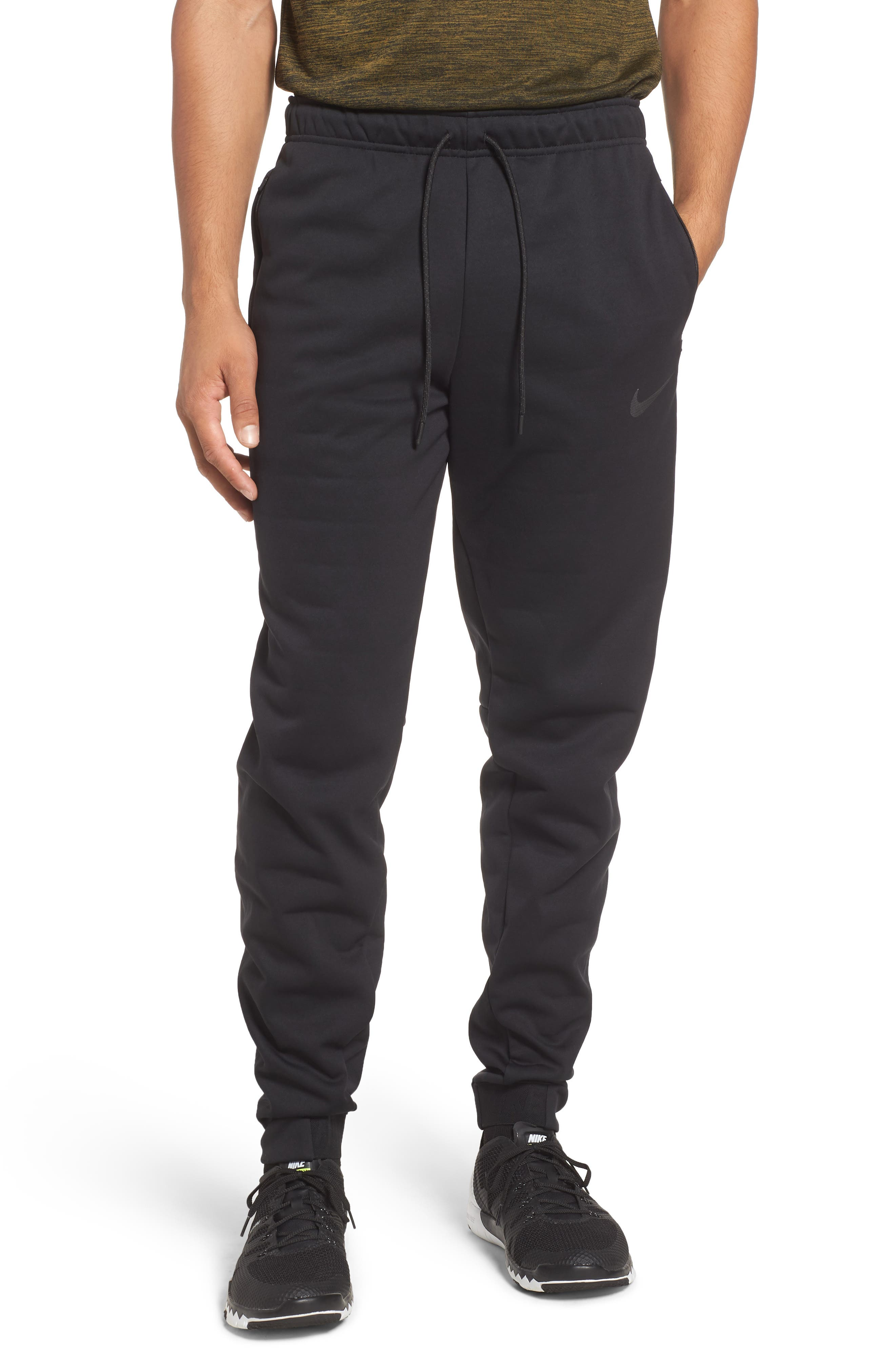 Therma Sphere Training Pants, Main, color, BLACK/ ANTHRACITE/ HEMATITE