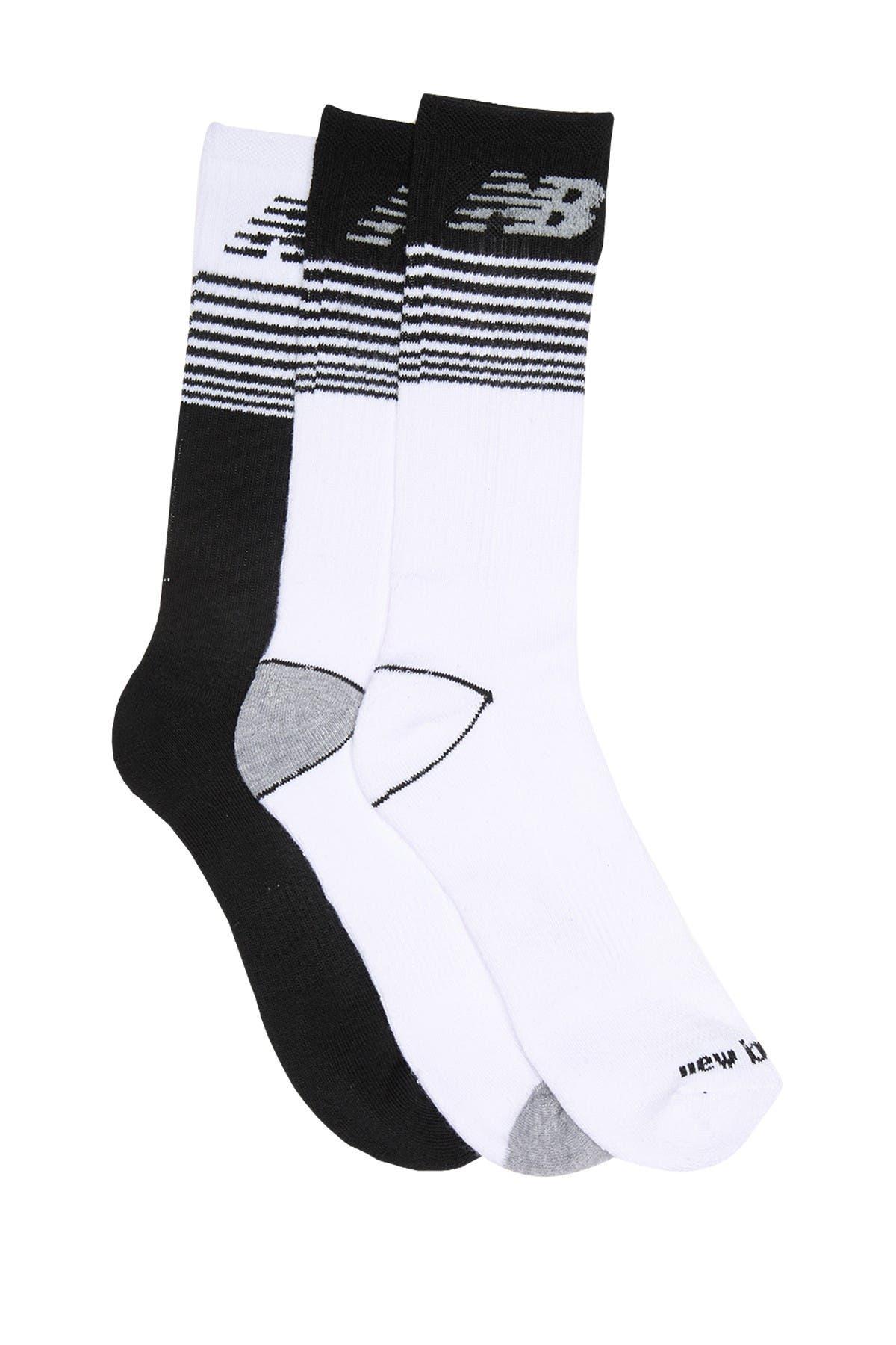 Image of New Balance Logo Stripe Crew Socks - 3 Pack
