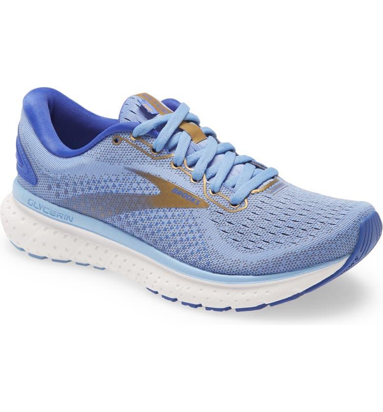 BROOKS Glycerin 18 Running Shoe, Main, color, CORNFLOWER/ BLUE/ GOLD