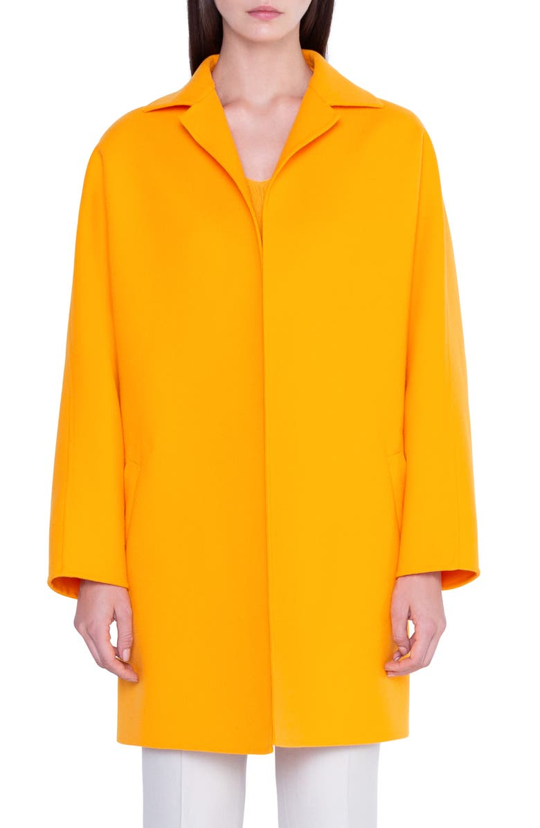 AKRIS Harlow Oversize Double Face Wool Coat, Main, color, SUNRISE