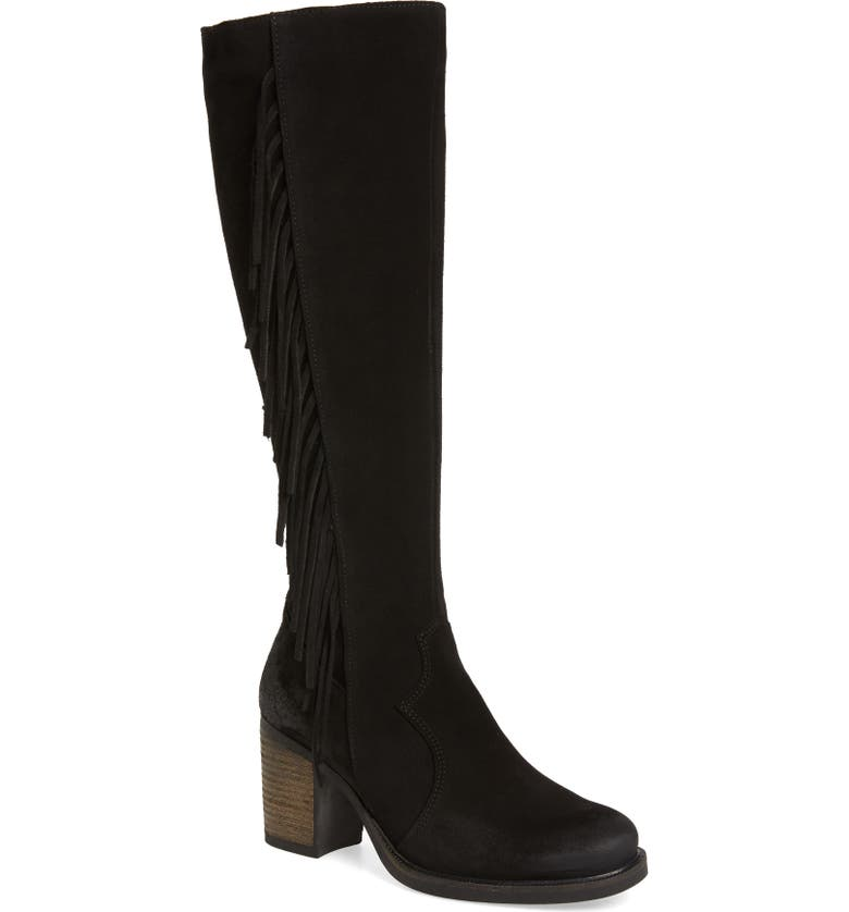 BOS. & CO. Houston Waterproof Knee High Boot, Main, color, BLACK SUEDE