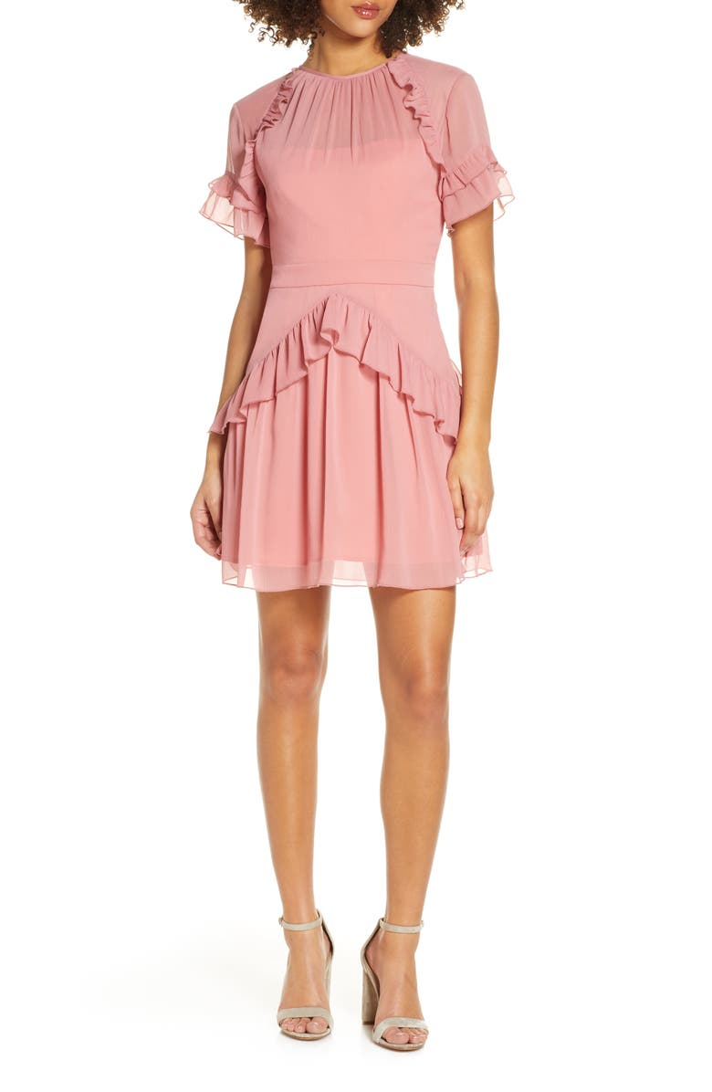 BELLEVUE THE LABEL Camille Ruffle Dress, Main, color, 650