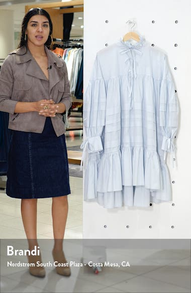 Macy Pleated Long Sleeve Shirtdress, sales video thumbnail