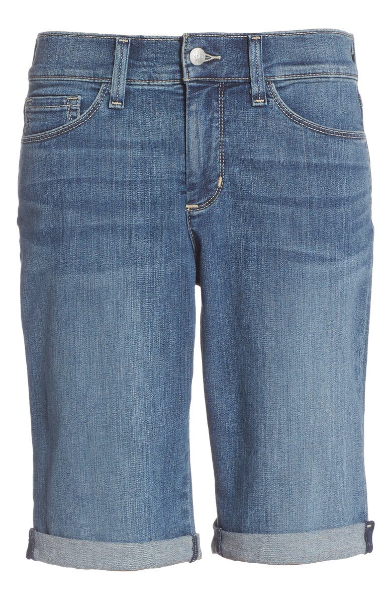 NYDJ Briella Roll Cuff Stretch Denim Shorts, Main, color, HEYBURN