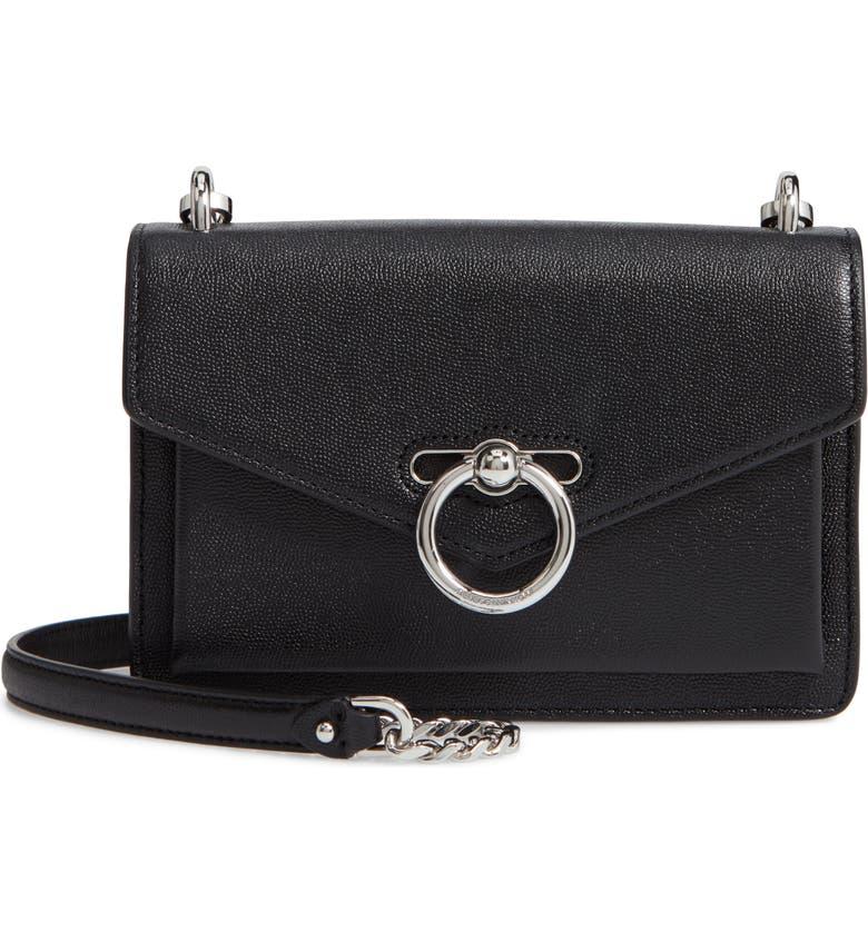 REBECCA MINKOFF Jean Leather Crossbody Bag, Main, color, 001
