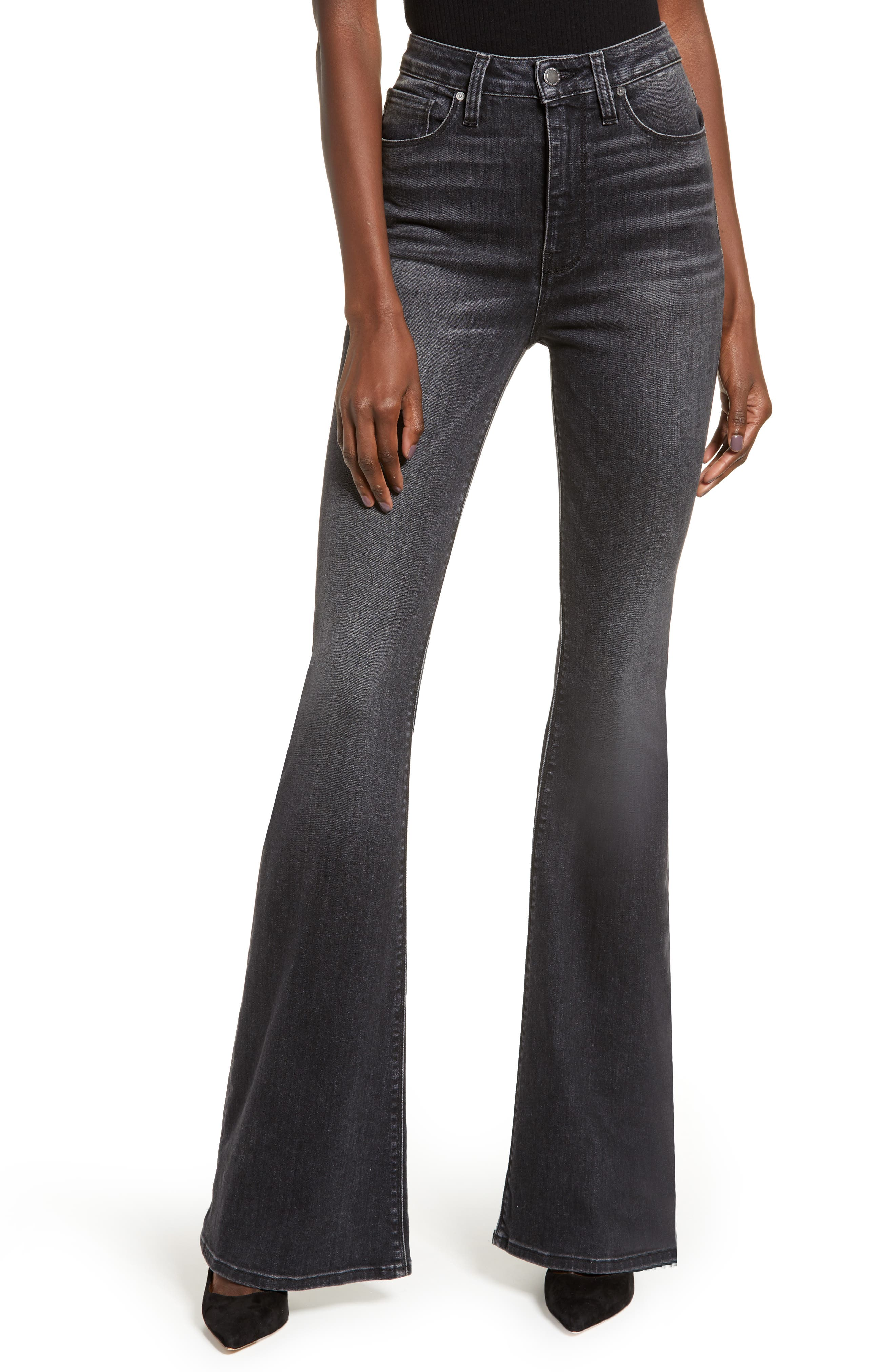 Dial up the drama in these high-rise flare jeans cut from stonewashed stretch denim that sculpts your figure and retains its shape from day to night. Style Name: Hudson Jeans Holly High Waist Flare Jeans (Kona). Style Number: 5775527. Available in stores.