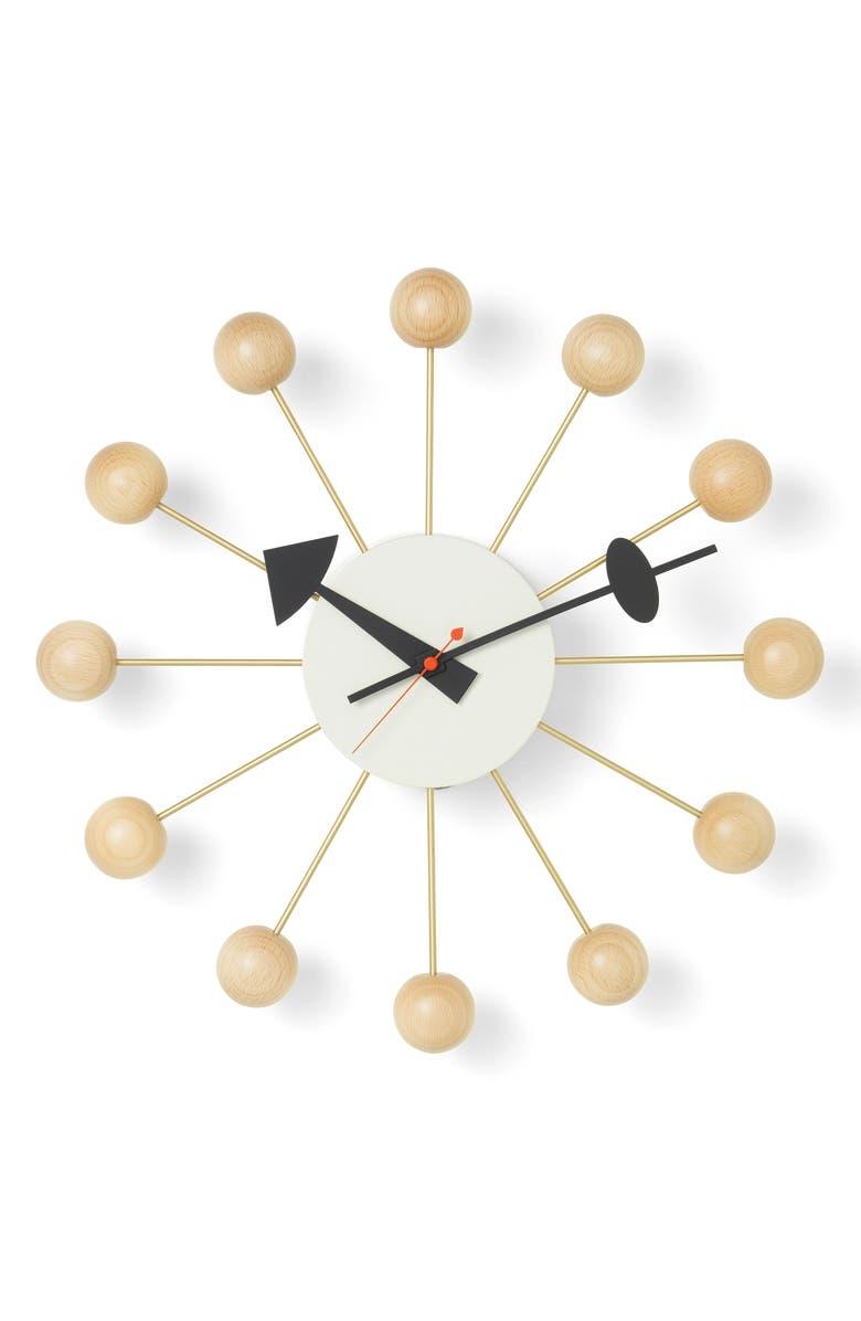 VITRA George Nelson Ball Clock, Main, color, BEECH
