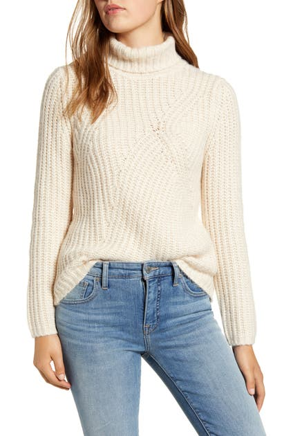 Lucky Brand Sweaters TRAVELING RIBBED TURTLENECK SWEATER