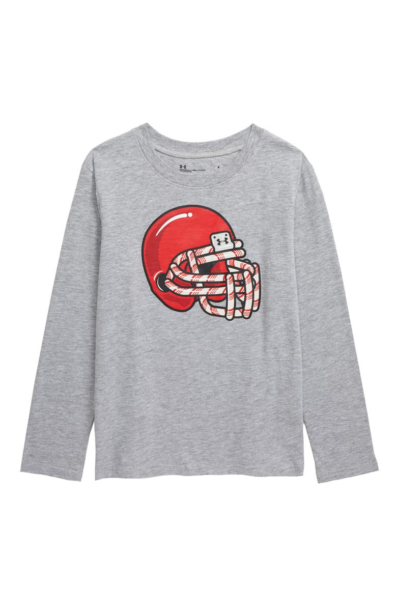 UNDER ARMOUR Candy Cane Football Scented T-Shirt, Main, color, MOD GRAY HEATHER