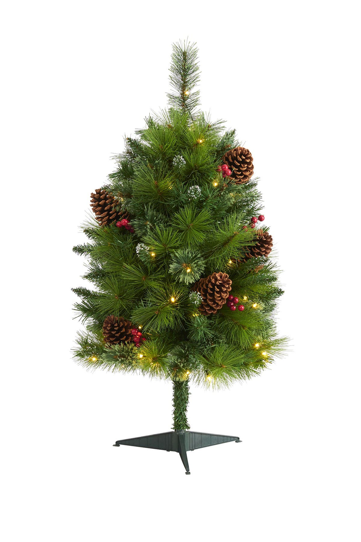 Image of NEARLY NATURAL 3ft. Montana Mixed Pine Artificial Christmas Tree