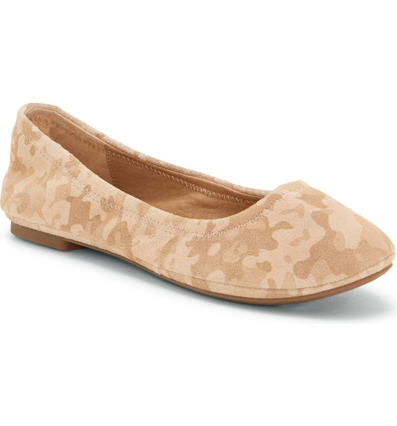 LUCKY BRAND 'Emmie' Flat, Main, color, STONE LEATHER