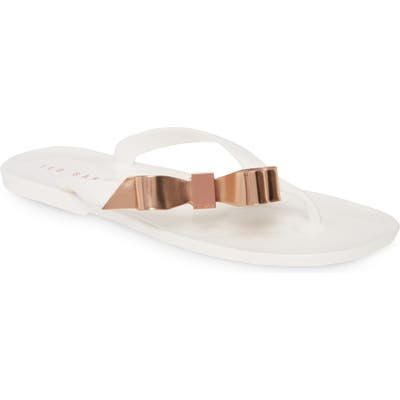 Ted Baker London Suszie Flip Flop, White