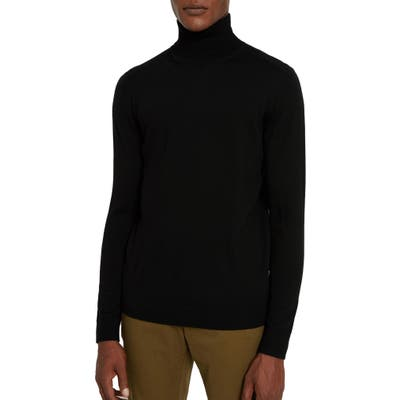 Frank And Oak Merino Wool Turtleneck Sweater, Black