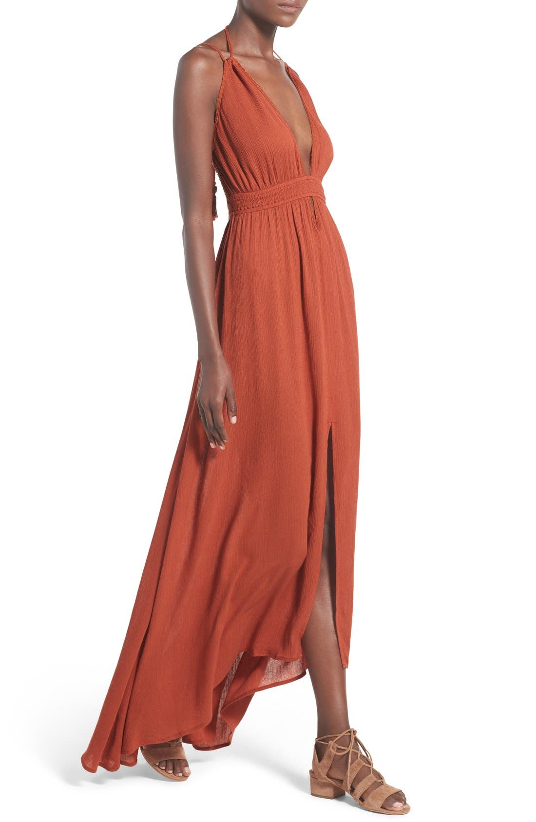 ,                             ASTR 'Belen' Maxi Dress,                             Alternate thumbnail 9, color,                             800