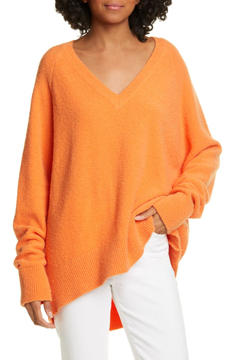 CHRISTIAN WIJNANTS Karwat V-Neck Sweater, Main, color, ORANGE