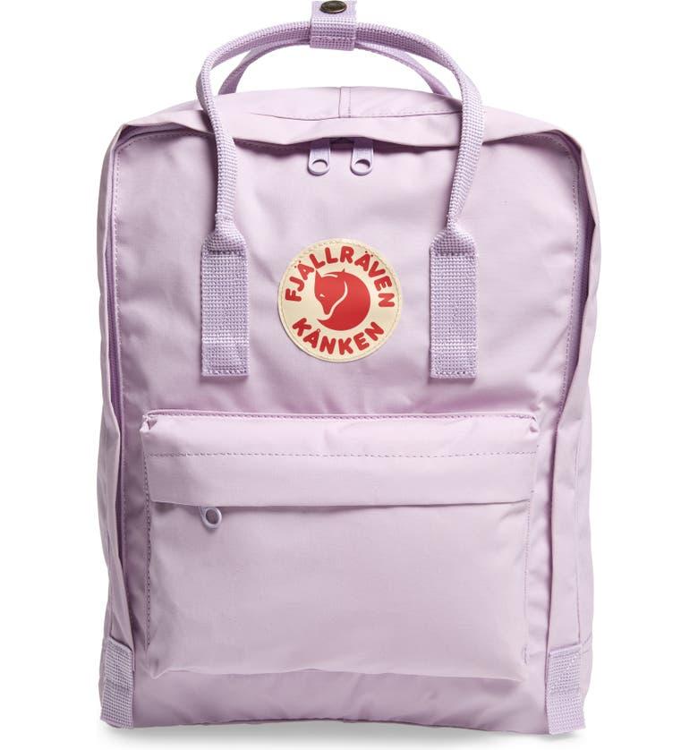 FJÄLLRÄVEN Kånken Water Resistant Backpack, Main, color, PASTEL LAVENDAR