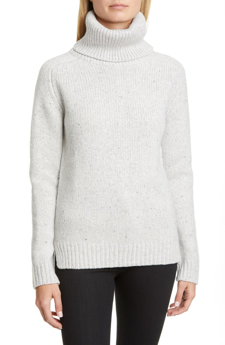 ADAM LIPPES Marled Wool & Cashmere Turtleneck Sweater, Main, color, 051