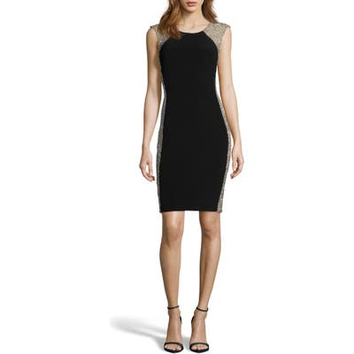 Xscape Beaded Cocktail Dress, Black
