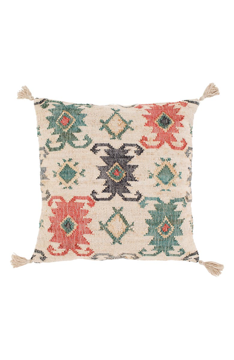 SURYA HOME Lenora Bohemian Pillow, Main, color, TEAL