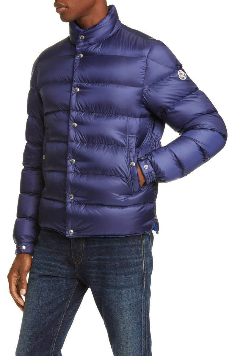 MONCLER Piriac Down Puffer Jacket, Main, color, DARK BLUE