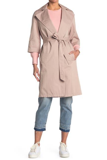 Image of ALLSAINTS Luna 3/4 Sleeve Tie Waist Trench Coat