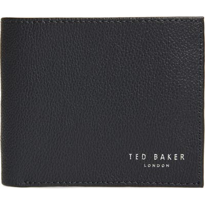 Ted Baker London Fluu Printed Leather Bifold Wallet - Blue
