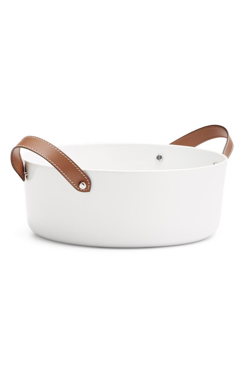 RALPH LAUREN Wyatt Salad Bowl, Main, color, SADDLE/ WHITE