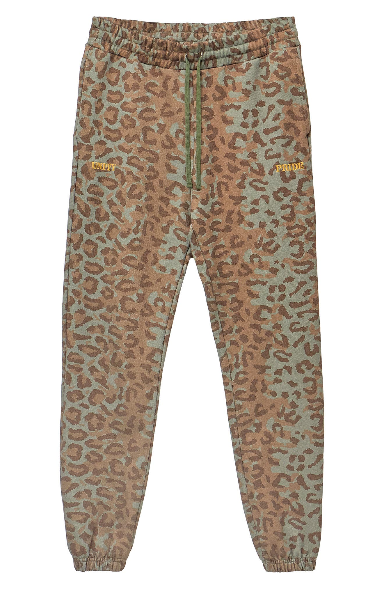 Men's Hstry By Nas X Coming 2 America Unity & Pride Leopard French Terry Sweatpants