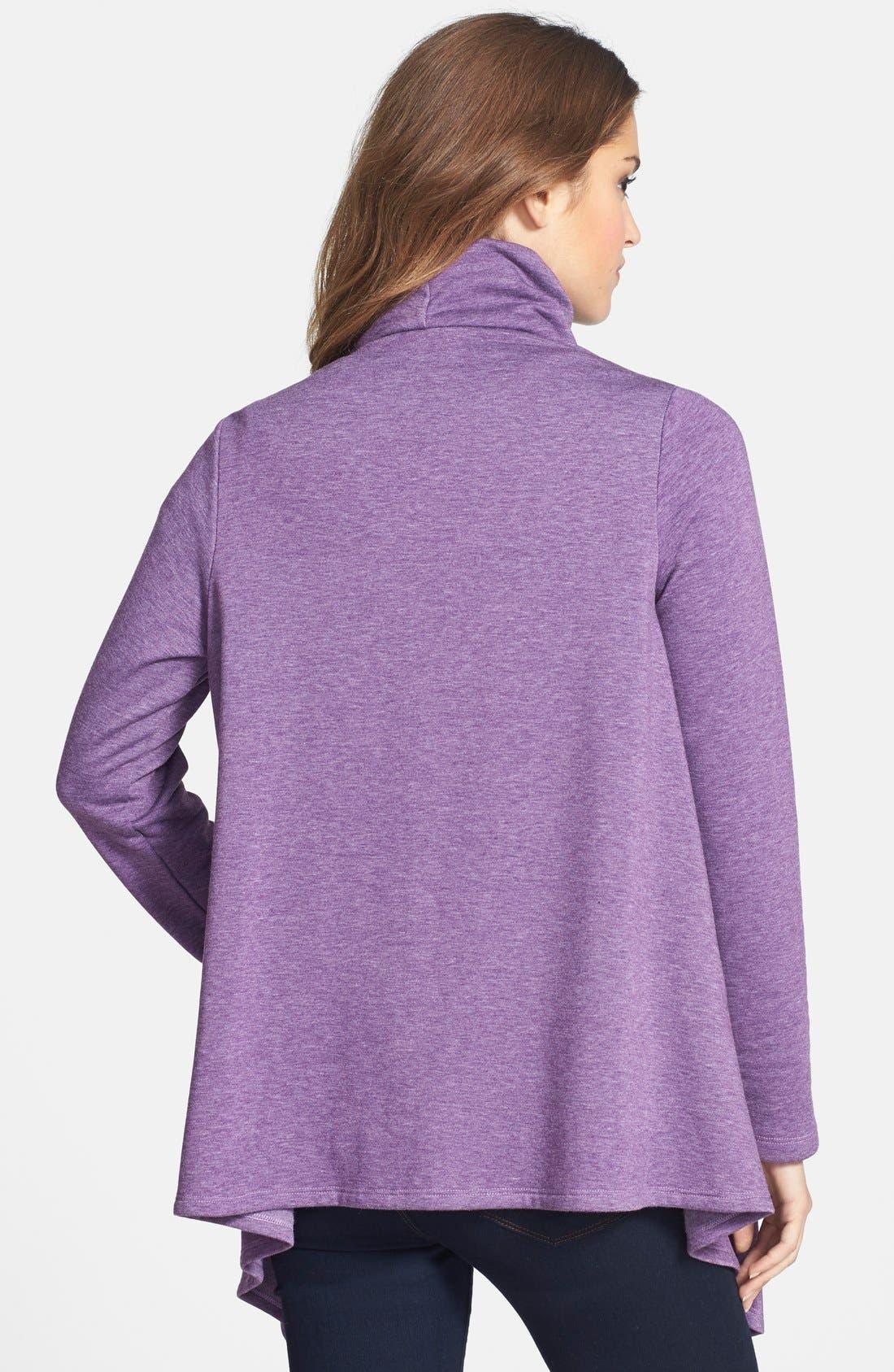 ,                             One-Button Fleece Wrap Cardigan,                             Alternate thumbnail 177, color,                             551